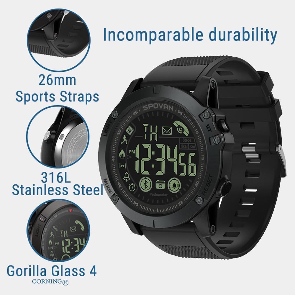 Top Luxus Marke Flagship-robuste Intelligente Bluetooth Smartwatch 33-monat Standby Zeit 24 H Alle-wetter Überwachung Uhr Geschenk Uhren Herrenuhren