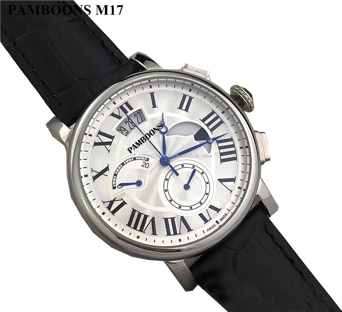 c5e8554e3de Compre 2018 Moda De Luxo Da Marca Relógio Suíço De Couro Tourbillon Relógio  Automático Dos Homens Relógio De Pulso Dos Homens De Aço Mecânico Relógios  ...