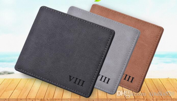 Men's short wallet thin retro student leisure business wallet horizontal wallet tide personality soft leather youth