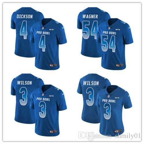 best sneakers 20f47 8d33f 4 Michael Dickson 3 Russell Wilson Limited Jersey Seattle Men's Seahawks  Royal Blue NFC 2019 Pro Bowl Football Jersey