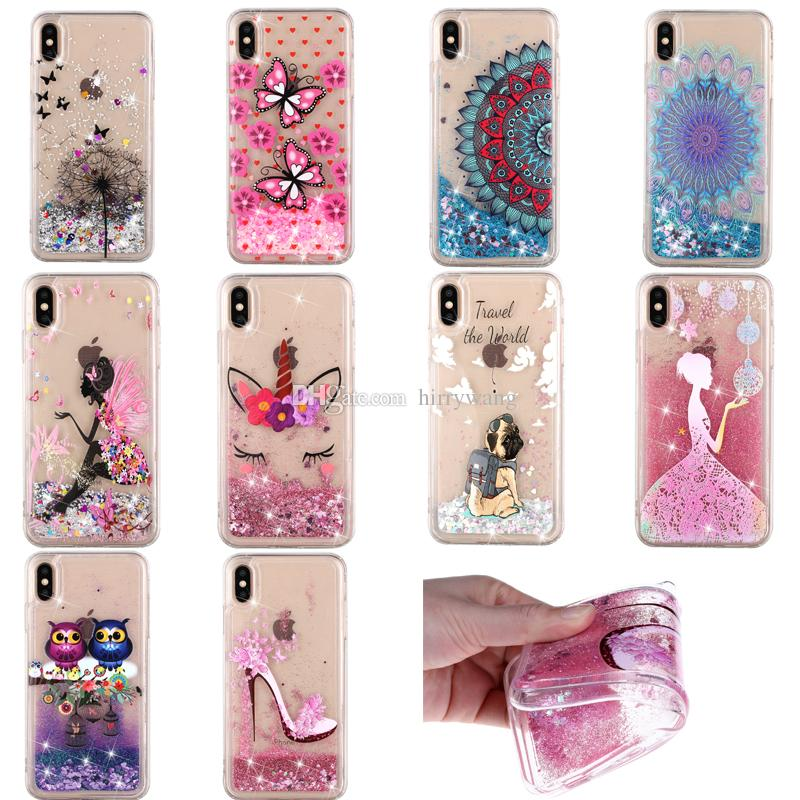 Fashion Silicone Transparent Phone Cases for IPhone 5s 6s Plus 7 7plus XS  Max XR Glitter Liquid Quicksand Floating Flowing Cover Iphone Xr Case Gel  Flowing ... 0ba07d700f
