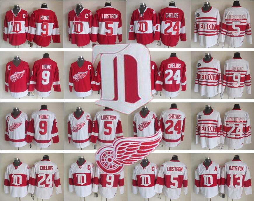ce3b173fc 13 Pavel Datsyuk Jerseys Men Detroit Red Wings 9 Gordie Howe 5 ...