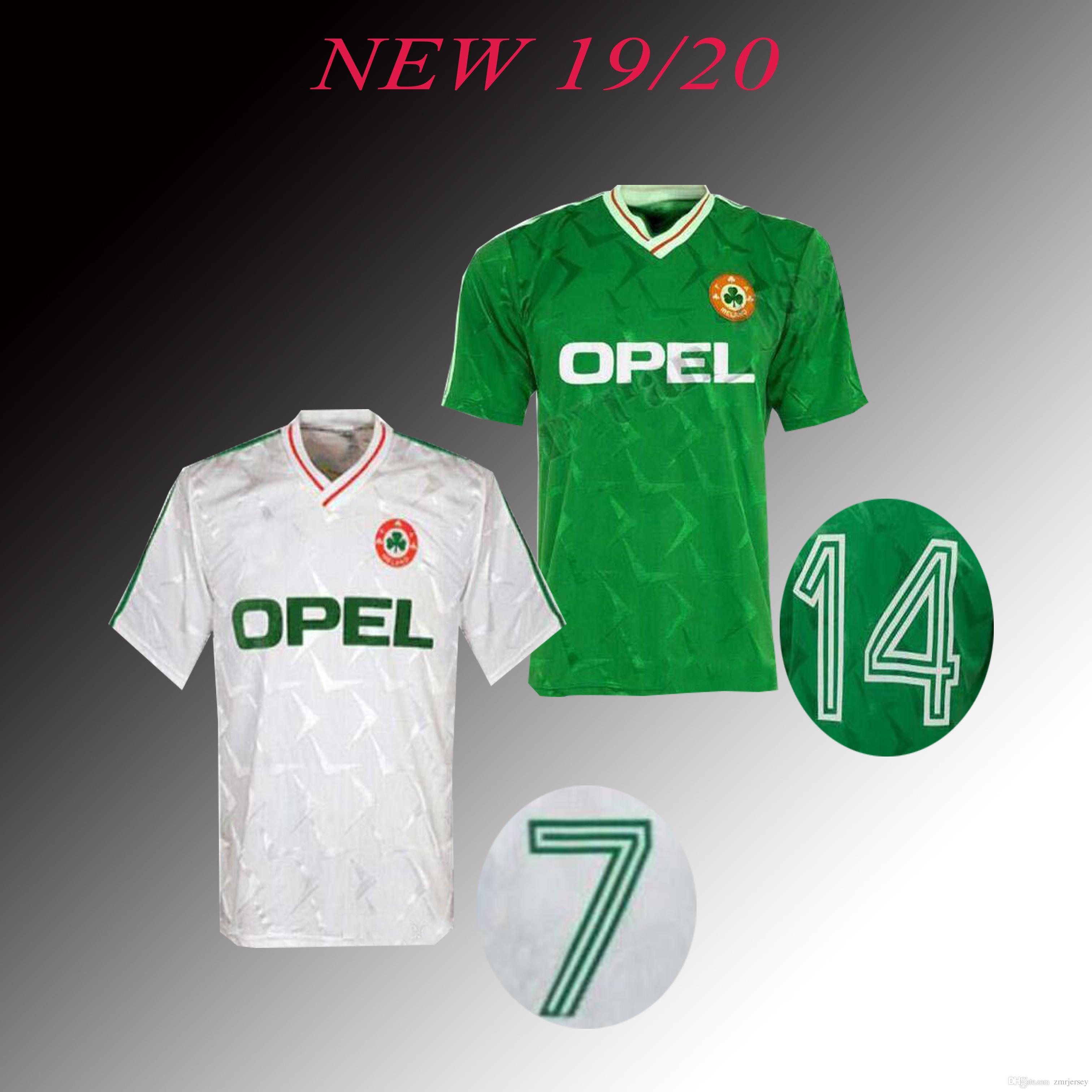 a0c2981cca79 2019 1990 1992 Ireland Retro Soccer Jersey 1990 World Cup Ireland Home  Classic Jersey 90 92 Vintage Irish Sheedy Football Shirts.