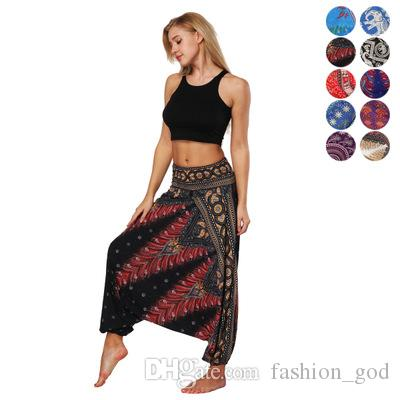 2798e364ed 2019 Women Harem Pants Yoga Boho Pants Casual Loose Beach Trousers Fashion  Harem Pants Lady Baggy Hippie Aladdin Yoga Trousers YFA878 From  Fashion_god, ...
