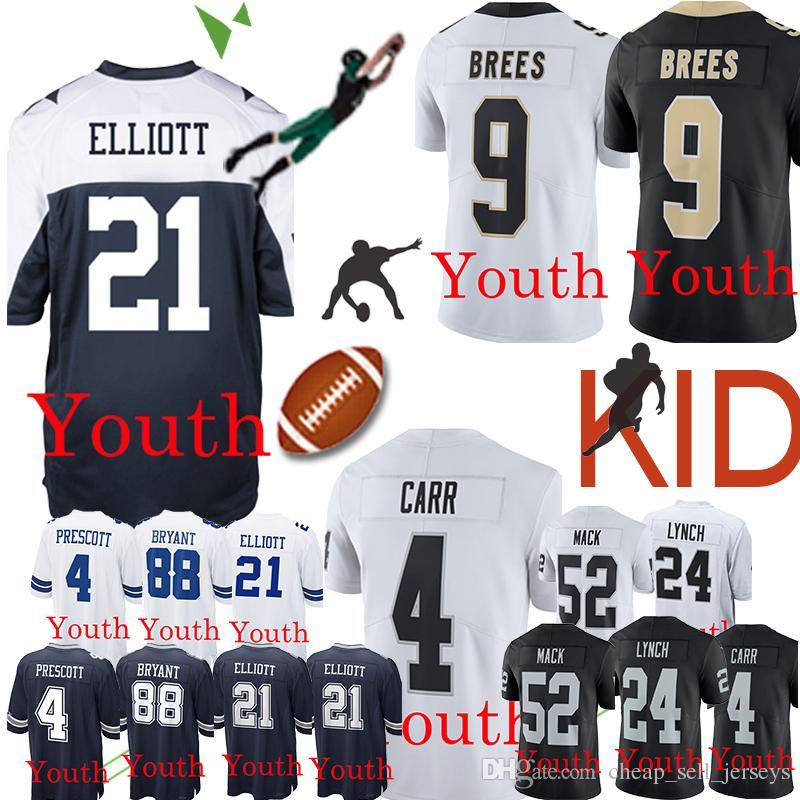 more photos bf1bb 4713a Ezekiel 21 Elliott Cowboys Jersey Dak 4 Prescott Dez 88 Bryant Saints 9  Drew Brees Oakland 4 Derek Carr Rainders Marshawn 24 Lynch