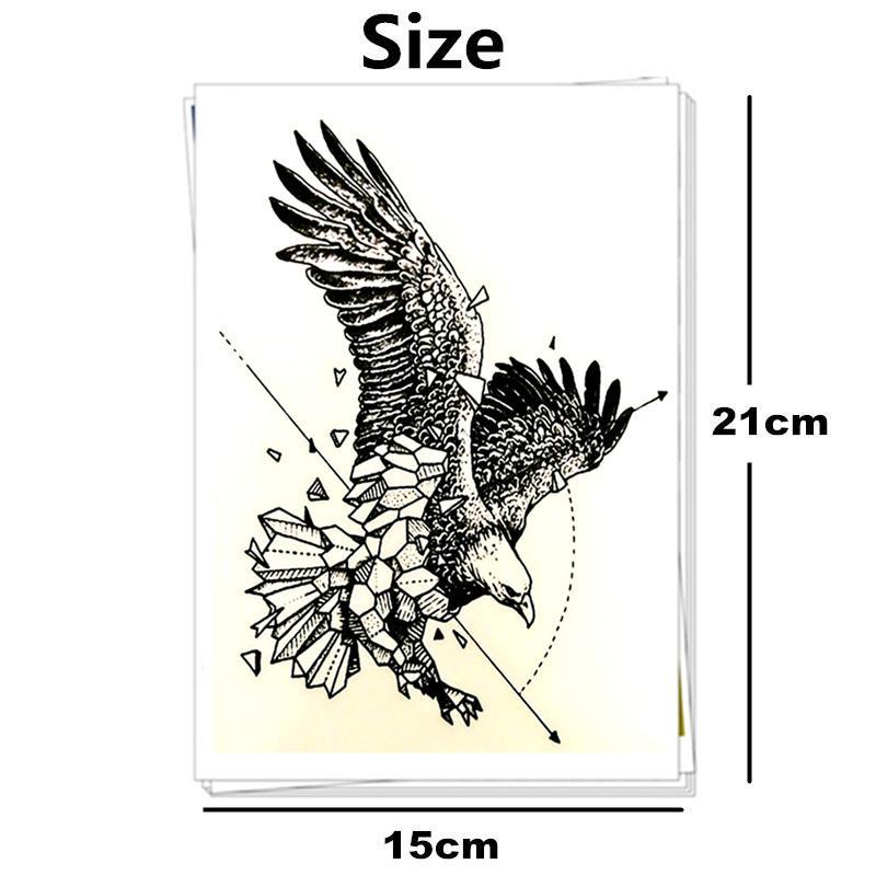 Eagle Design Temporary Tattoo Sticker - Body Art Totem Also for Men Women Cup Glasses Laptop Phone Bike Decoration