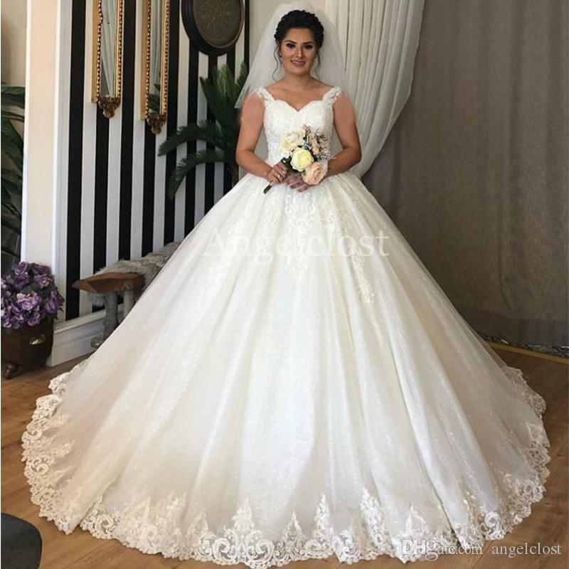 Princess Lace Bridal Ball Gowns Modest Country Wedding: Ball Gown Princess Wedding Dresses 2019 Sweetheart