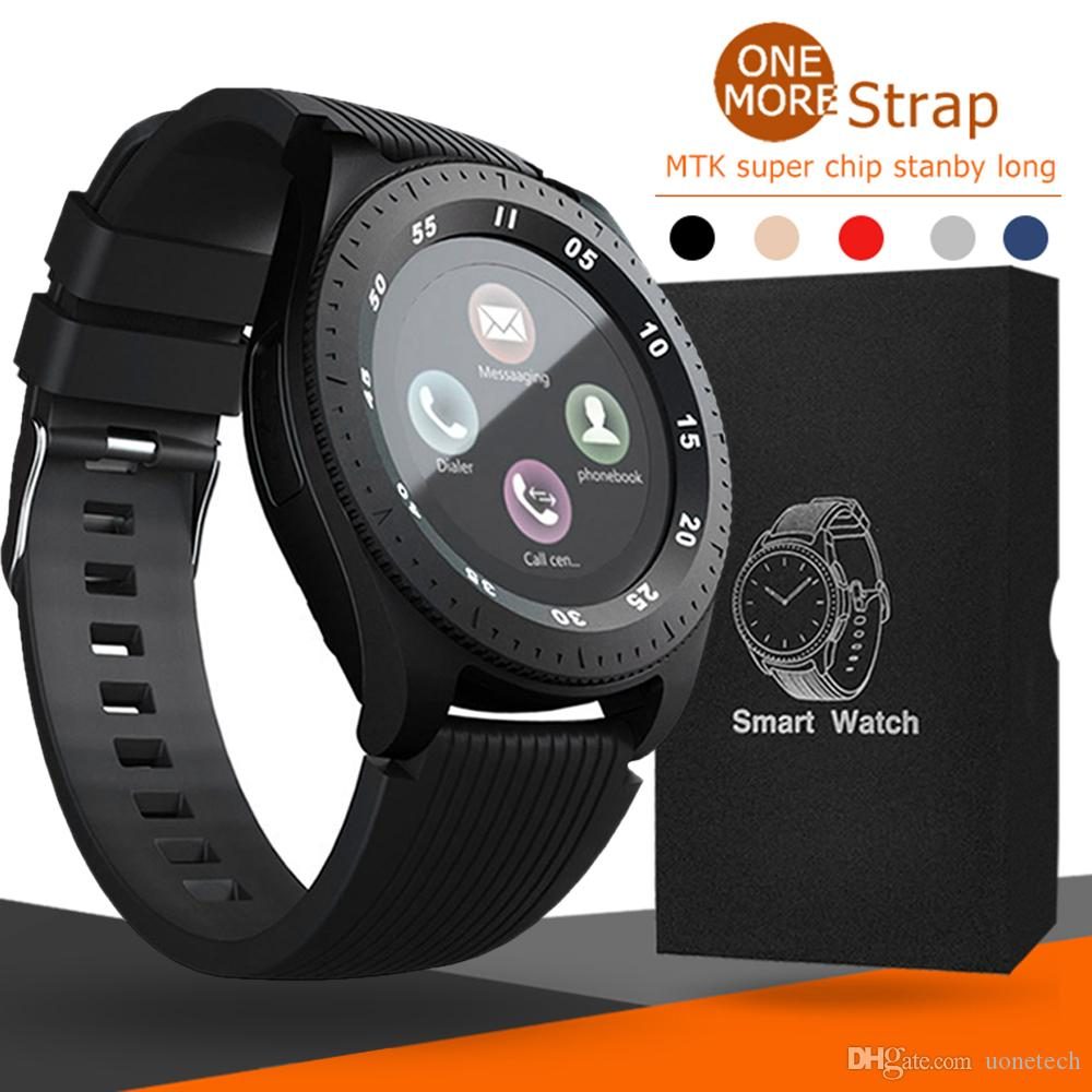Z4 Bluetooth Smart watch Wristband Android 1 54 inch LCD Smart Watches With  Camera TF SIM Card Slot Gift Watches Strap With Retail Package