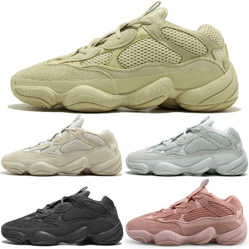 24b55dd96 2019 2019 Kanye West 500 Desert Rat Blush 500s Salt Super Moon Yellow 3M Utility  Black Mens Running Shoes For Men Women Sports Sneakers Designer From ...