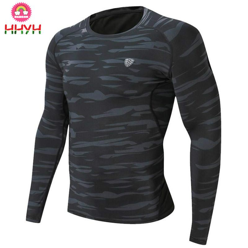 055b4de2727 Mens Running Sports Long Sleeve T Shirt Gym Fitness Compression Quick Dry Skinny  T Shirt Male Jogging Workout Tee Tops Clothing Shirt Shirt Novelty Tee ...