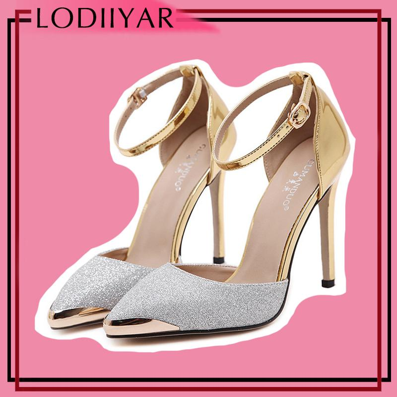 12f7b80ac8c7 Dress Women Sandals High Heels Shoes Mental Pointed Toe Fashion Gold Sliver  Super High Heels Party Wedding Shoes Summer Ladies Sandals Mens Shoes  Online ...