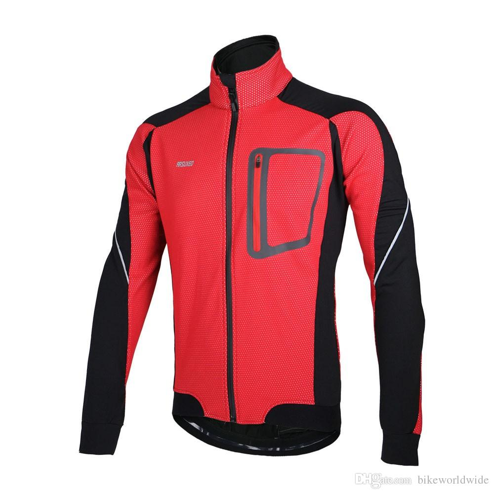 Y1302 ARSUXEO Winter Warm Thermal Cycling Long Sleeve Jacket Bicycle ... d45a6bba2