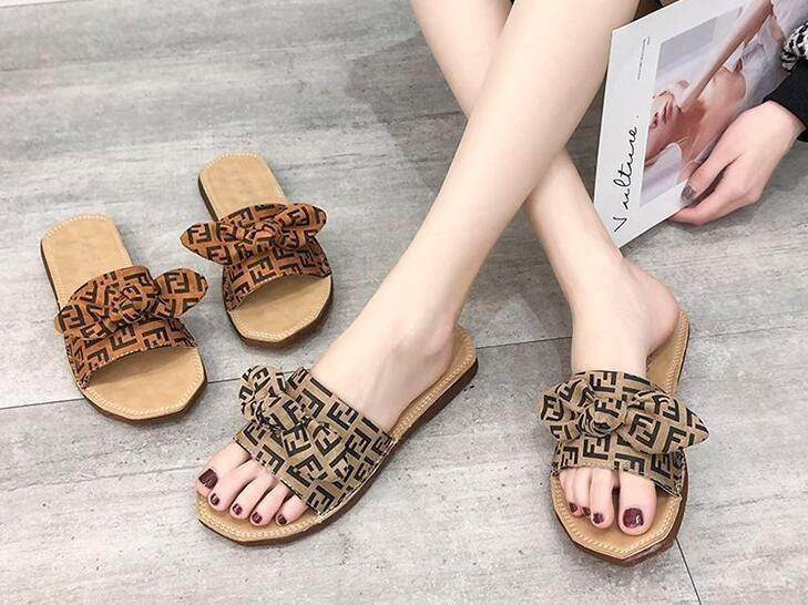 new products 26a09 2c45c 2019 Summer Women Sandals Shoes Leadcat Fenty Rihanna Shoes Women Slippers  Indoor Bow Sandals Girls Fashion Scuffs Slide