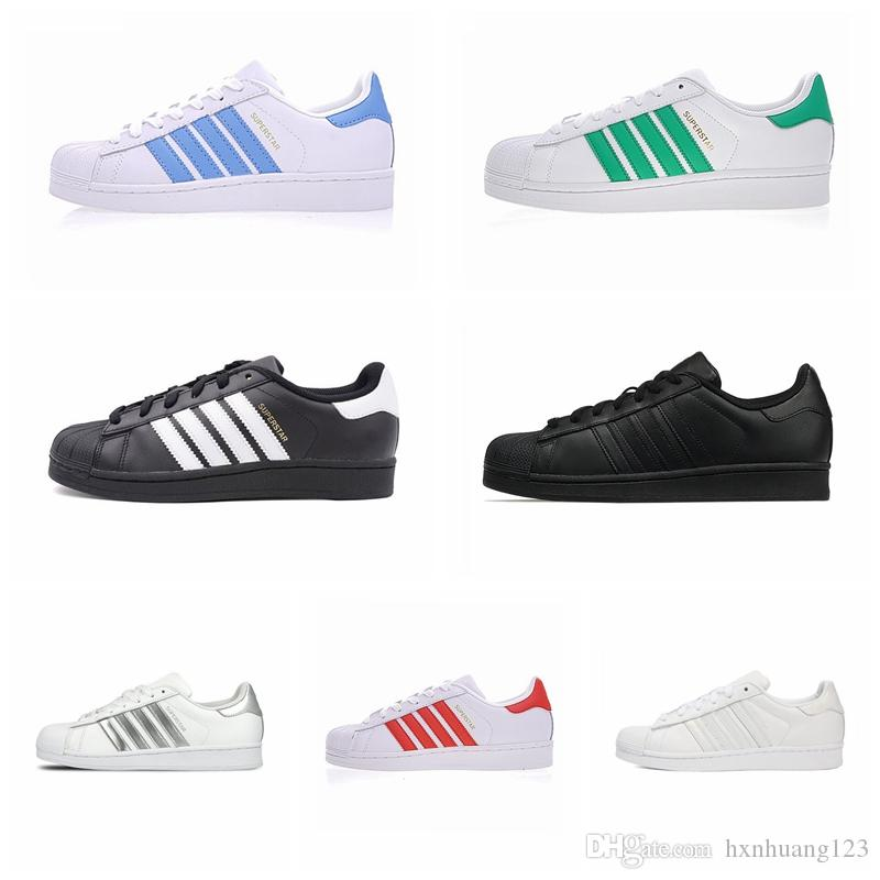 Hot Sell Superstars Shoes 2019 Cheap New Black White Gold Hologram Junior Originals Superstars 80s Pride Sneakers Super Star Women Men Shoes