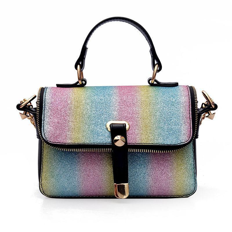 TINTON Brand Nice Women Shoulder Bag Rainbow Sequined Patchwork Sawtooth  Crossbody Bags For Women Chain Purses And Handbags Handbags Brands Womens  Handbags ... 1543639e65e1d