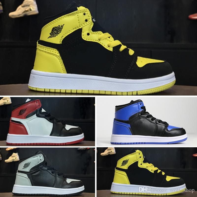 1d00432758d Jointly Signed High OG 1s Kids Basketball Shoes Chicago 1 Infant Boy Girl  Sneaker Toddlers New Born Baby Trainers Children Footwear Australia 2019  From ...