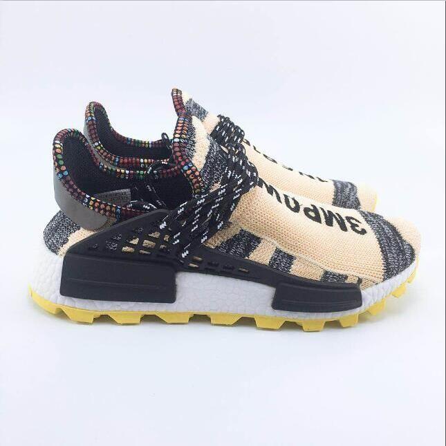 48f235163f4df Hot 2018 Human Race Black Designer Shoes Pharrell Williams Solarhu ...