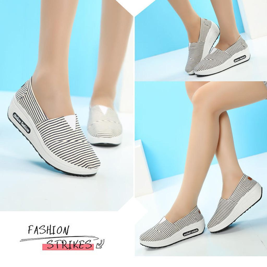 b2696c00a783 Designer Dress Shoes Women S Pumps New Fashion Spring Summer Round Head  Breathable Leisure Canvas Sports Walking Casual Slip On Wedge Dansko Shoes  Tennis ...