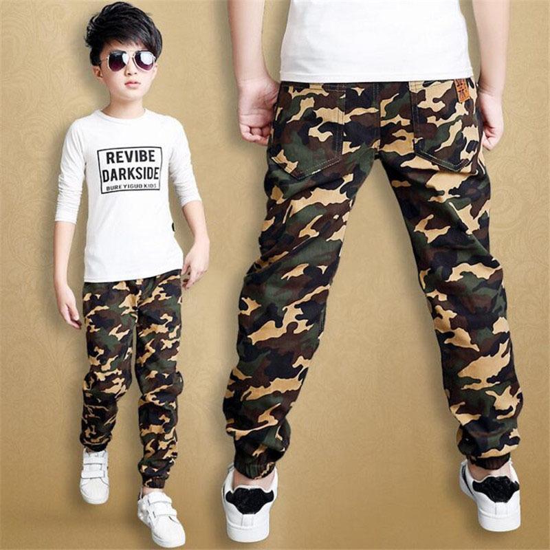 56e12c3f6 Acheter Camouflage Garçons Pantalons 2019 Casual Coton Imprimer Mi Taille  Élastique Harem Enfants Pantalon Pour Garçon Enfants Pantalon Bleu Vert  Armée P300 ...