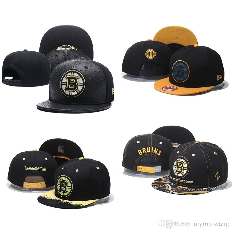 72e47977bb11e4 2019 Wholesale Ice Hockey Hats Boston Bruins Caps Black Snapbacks Hat Adult  Embroidered Cap From Myron Wang, $9.85 | DHgate.Com