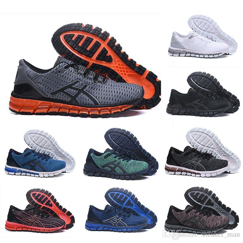 Asics Hommes Chaussures de course ASIC Gel Quantum 360 Shift Cushioning chaussures homme Weaves Vamp noir blanc rouge bleu
