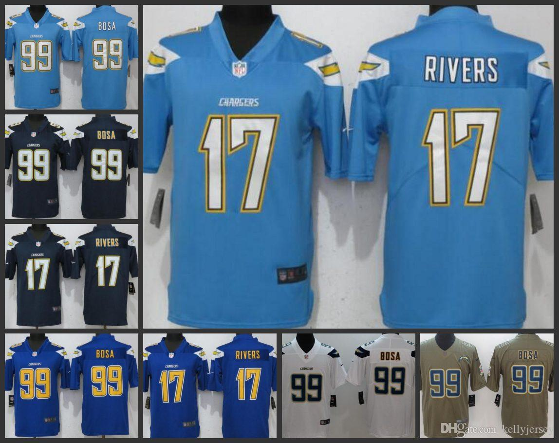 new style 241aa 62ea8 Los Angeles Men Chargers Playey Jersey #17 Philip Rivers 99 Joey Bosa Women  Youth Limited Jerseys