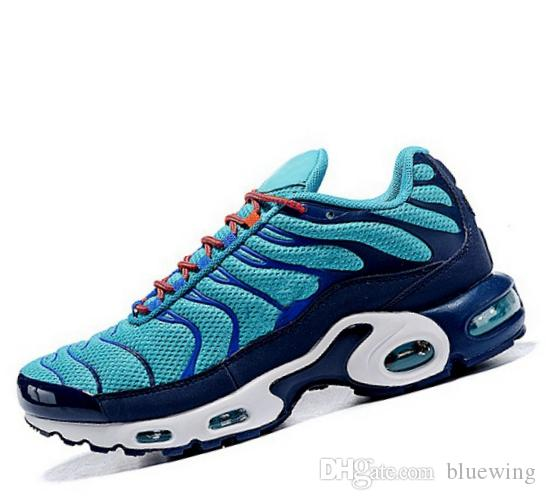 new styles 3275f 39122 TN 2019 Running Shoes For Men TN UITRA Breathable Mesh Dark Blue Rainbow Air  Caushion Leisure Outdoor Men s Sports Sneaker 40-45