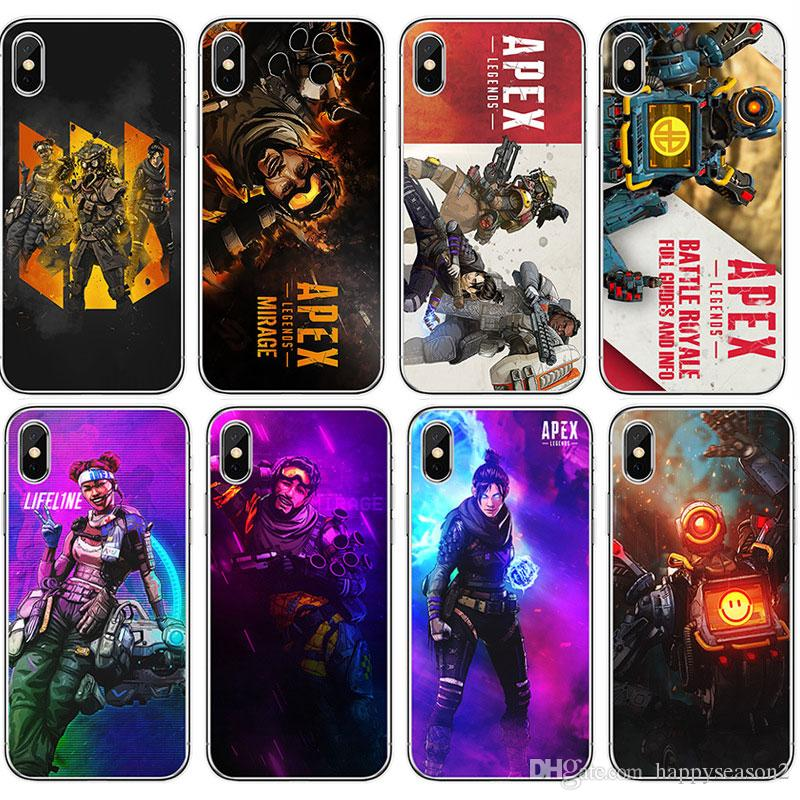 check out a7813 ab7e2 APEX Legends Soft TPU Cellphone Case Back Cover for iPhone XS Max XR XS/X 8  7 6 Plus Samsung Huawei Shell Protective