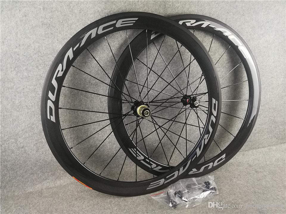 DURA ACE Carbon road Wheels Tubular Clincher 50mm 60mm 700C Wheelset Glossy Matte 3k/ud ceramic bearing C8