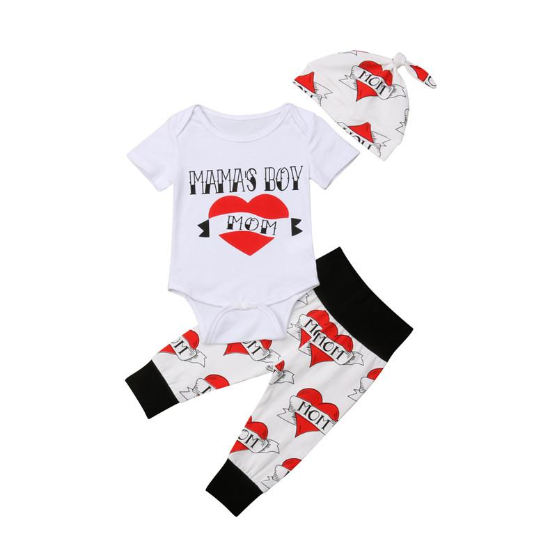 fd37a1a2109 2019 Romper+Pants+Hats Active Baby Boys Girls Clothes Sets Casual Letter  Printing Top Trousers Infant Toddler Outfits Streetwear From Coolhi