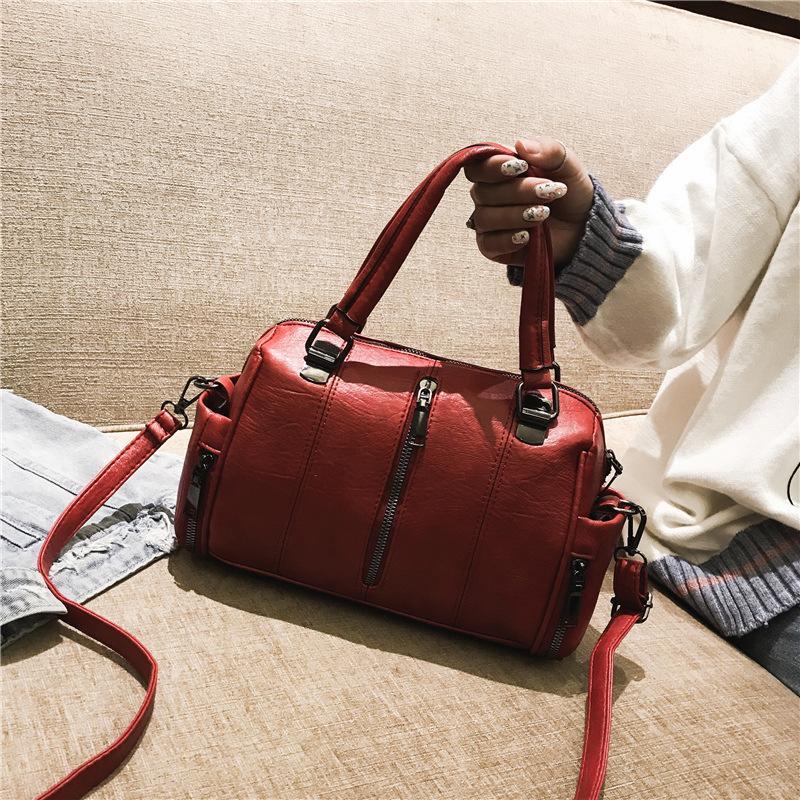 796d1a7c4ac2 Bag female 2018 new autumn and winter handbag female fashion soft leather  shoulder Messenger bag tide Korean version of the wild female bag