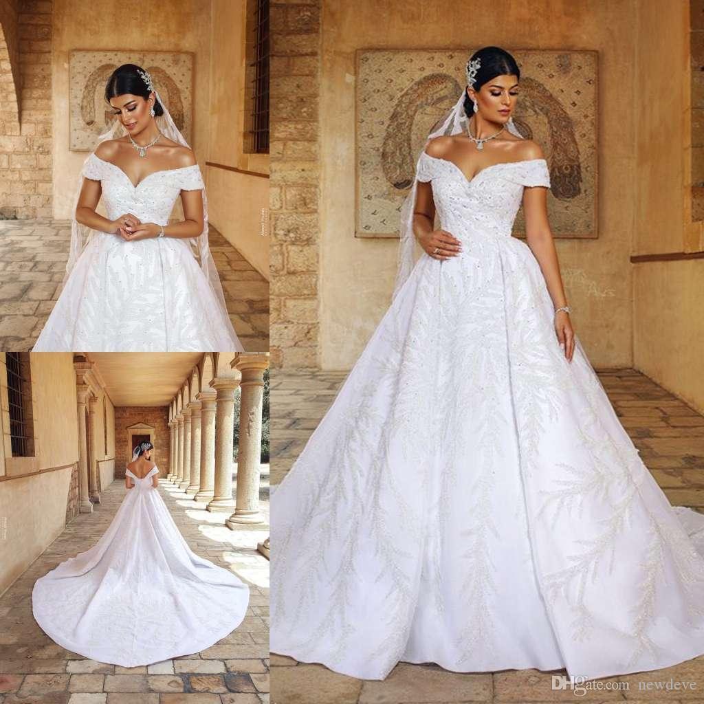 Satin Wedding Dress 2019: Luxurious Modern Satin Wedding Dresses 2019 Off Shoulder