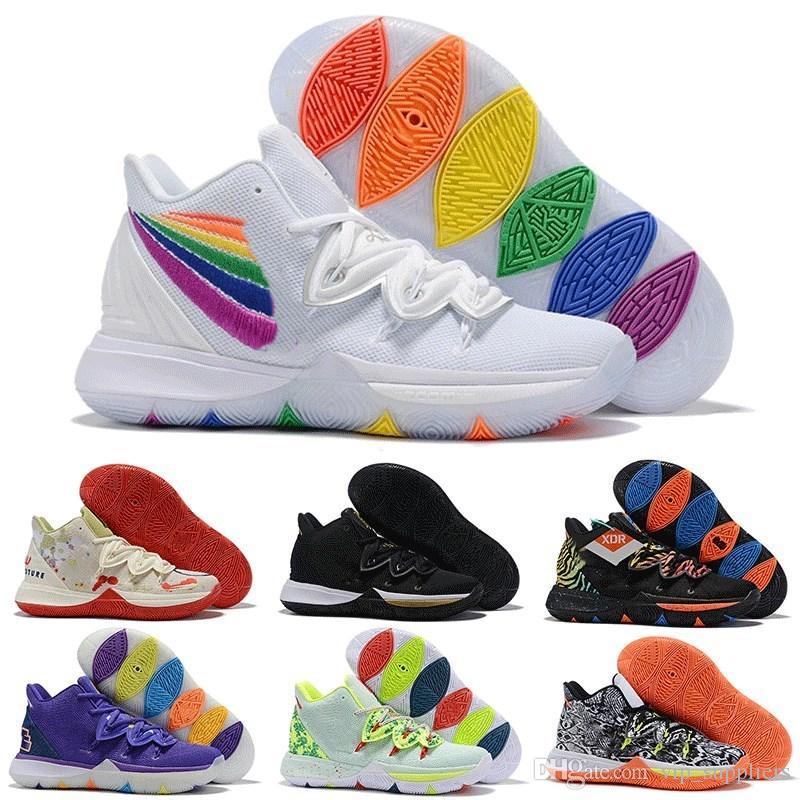 Irving 2019 Kyrie Taco Black Magic Sky concept star Scarpe da Basket uomo Chaussures 5s 5 Uomo Rainbow Black Sneakers sportive Taglia US 7-12