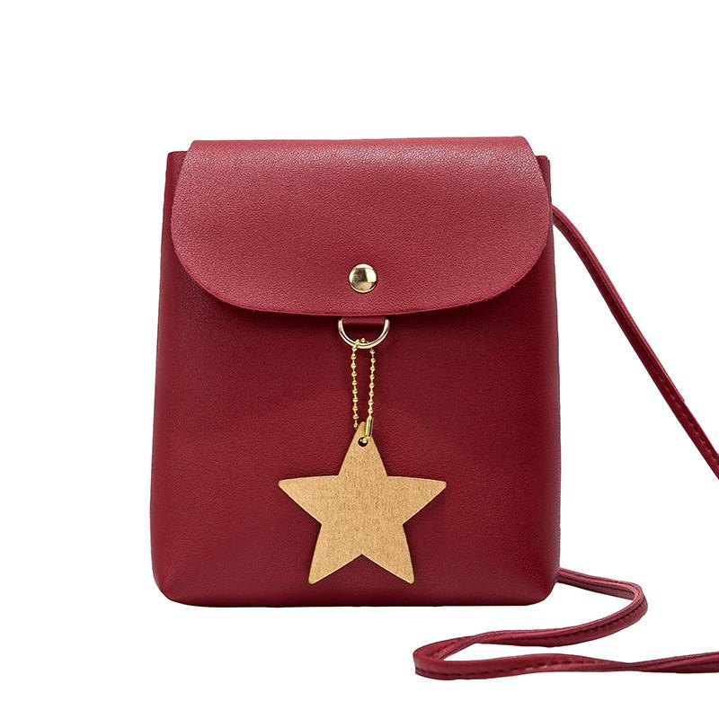 3625fd53c48 Cheap LKEEP Women Shoulder Bags 2019 New Wave Mini Five Pointed Star  Pendant Handbag Change Small Messenger Bag Mobile Phone Bag Leather Purses  Cheap ...