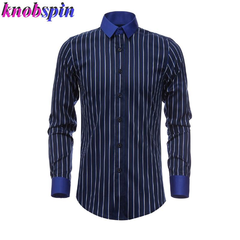 Classic Striped Long sleeve Shirt men 2019 New Brand Slim Chemise homme High quality business male Dress shirts Casual Camisas