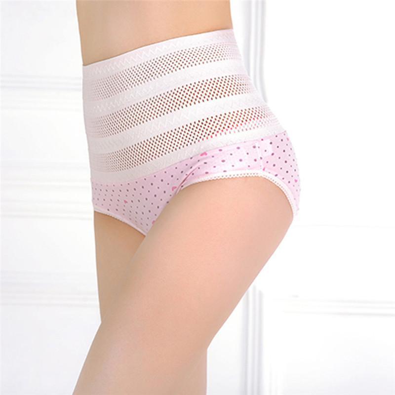 8eae0ee586d8 1PsWomen's High Waist Panties Postpartum Maternal Intimates Abdomen  Underwear Tummy Control Body Shaper Knickers L-XXL Nude/Pink