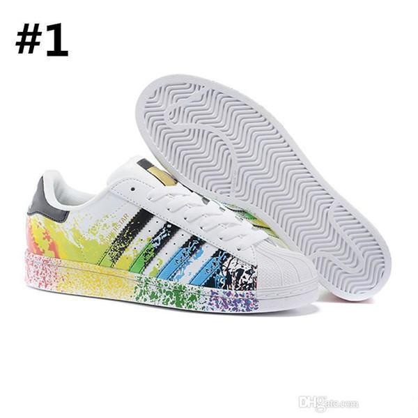 3ba4207f3 Hot 2019 Originals Superstar White Hologram Iridescent Junior Superstars  80s Pride Sneakers Super Star Women Mens Sport Casual Shoes 36 45 Brown  Shoes ...
