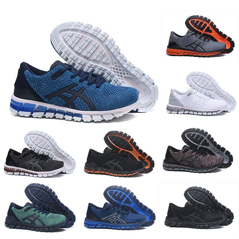 half off 64818 c8ec4 ASIC Running Shoes Gel-Quantum 360 mens shoes Weaves Vamp black white red  blue runner shoes top quality sports sneakers