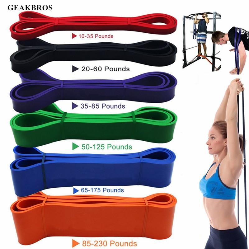 Training Fitness Gum Exercise Strength Resistance Bands Elastic Sport Rubber Fitness Bands Crossfit Gym Resistance Bands Sports & Entertainment