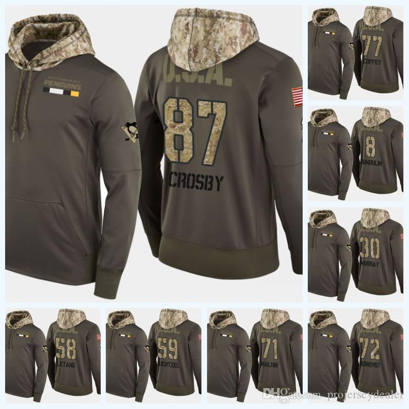 finest selection 9b44a a35d8 58 Kris Letang Pittsburgh Penguins Military Camo Hoodie With USA Flag  Sidney Crosby Evgeni Malkin Patric Hornqvist Phil Kessel Hockey Jersey