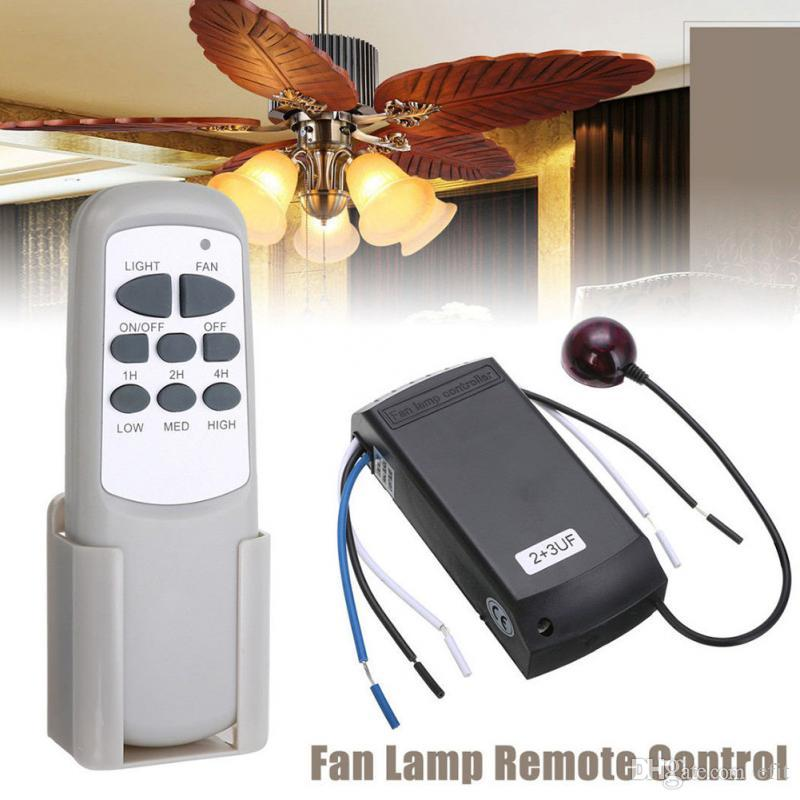 Universal Ceiling Fan Light Lamp Timing Speed Controller Switch Wireless Remote Control Kit Transmitter and receiver