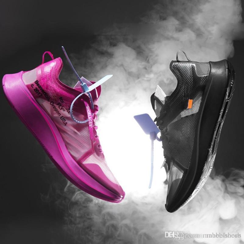 e2d8fc674ef Acheter 2019 Zoom Fly SP Marathon Chaussures De Course Noir Tulip ...