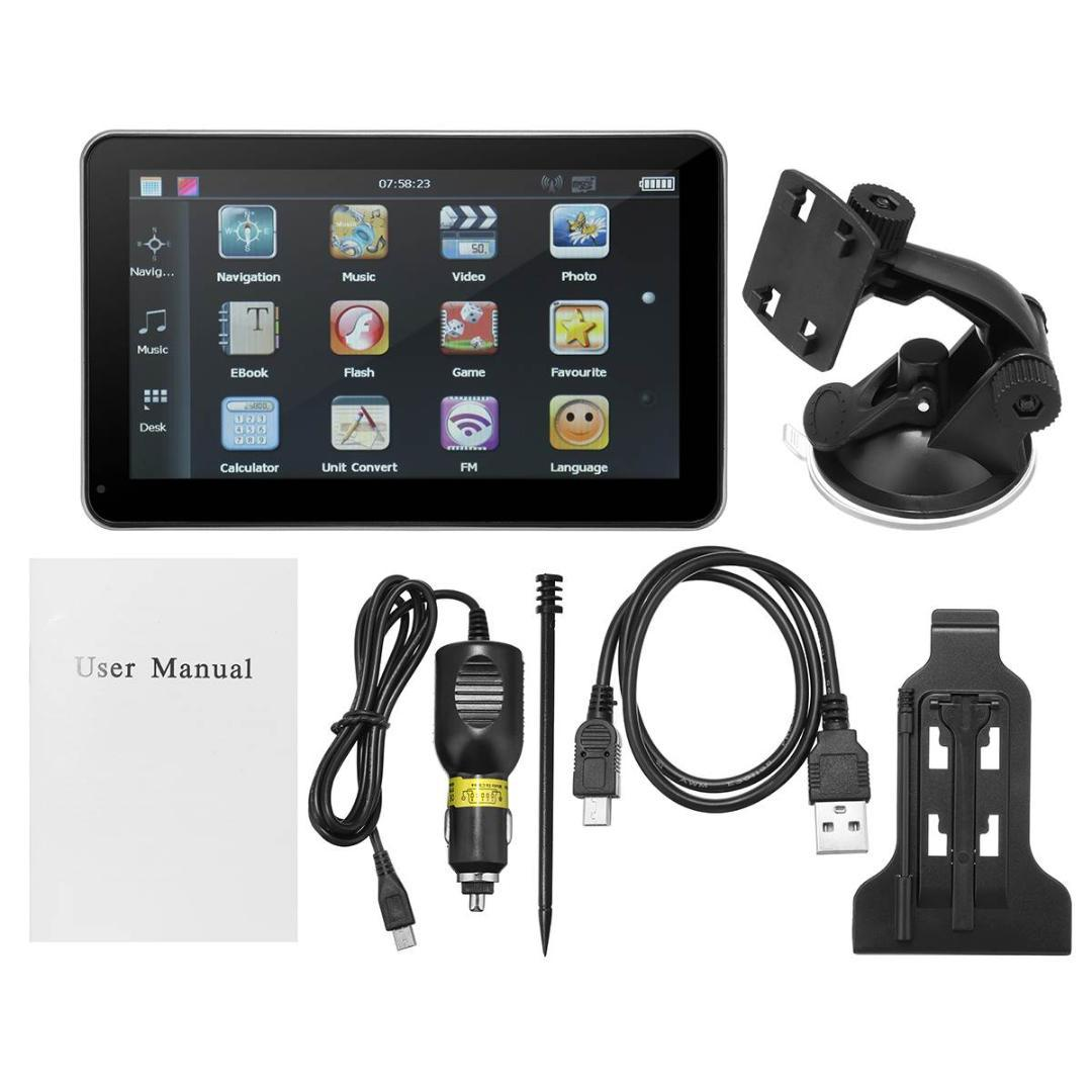 KROAK A Set 7 Inch Screen Car Auto GPS Navigation USB Port MMC Slot  Rechargeable Video Audio FM Mp3 Player