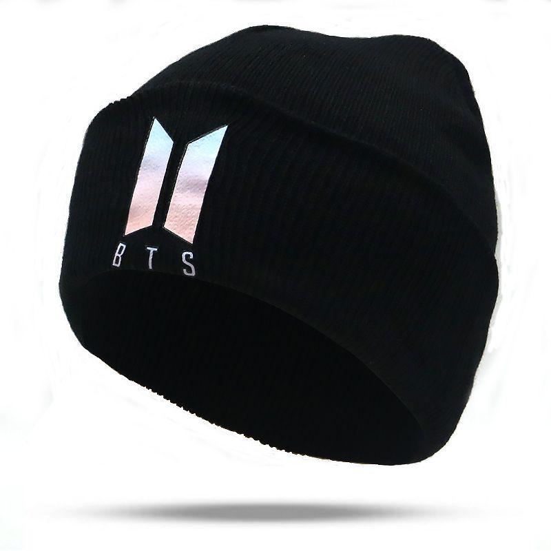 b6222717590 New BTS Beanies K POP Knitted Hat Unisex Autumn Winter Beanie Cap ...