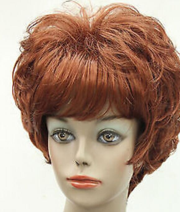 WIG 001594 Meravigliosa parrucca donna Fox Red Short Curly Women Daily Fluffy