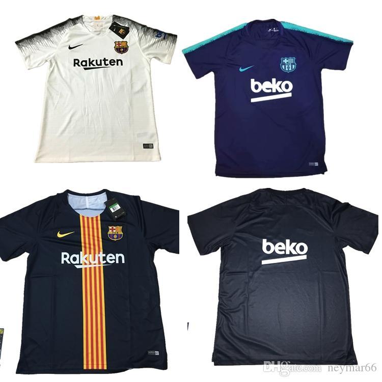 High Quality FC Barcelona Football Shirt SUAREZ O.DEMBELE 18 19 Messi  Training Suit Jersey PIQUE Coutinho Barcelo Training Suit Barcelona Jersey  Camisas ... 3dce73405e12f