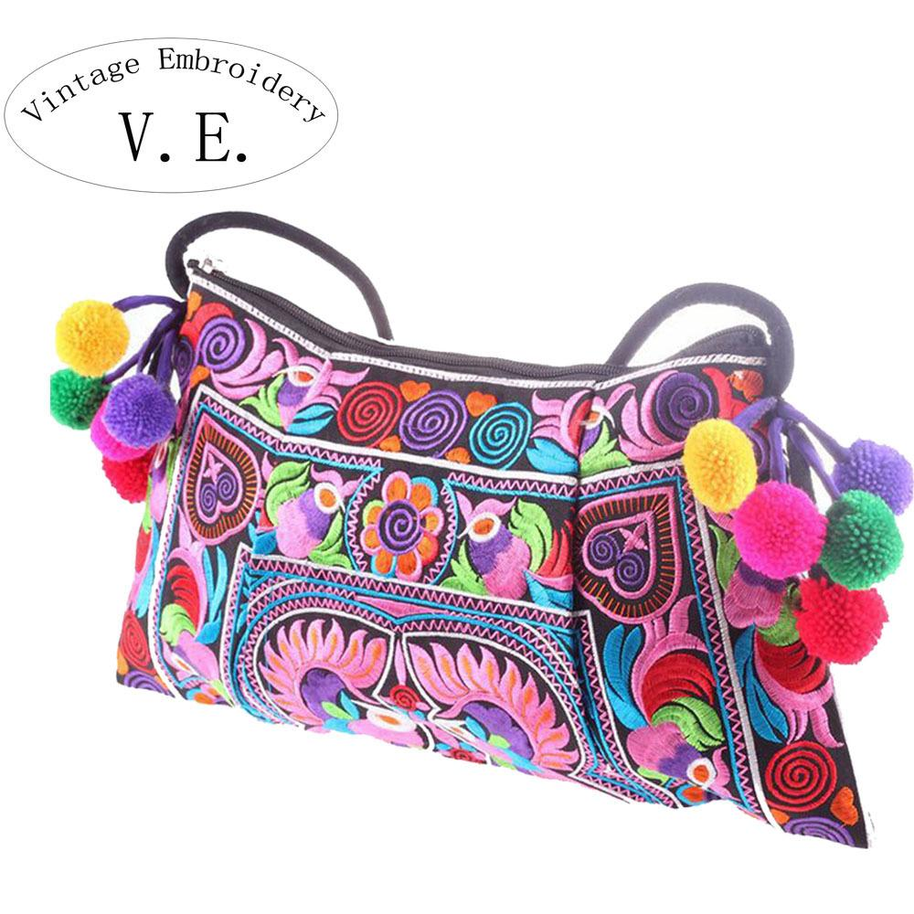438efd3700 2019 Fashion Vintage Embroidery Womens Messenger Bags National Trend Embroidery  Shoulder Cross Body Women Shoul;Der Bag Clutch Handbag Bolsa Leather Satchel  ...