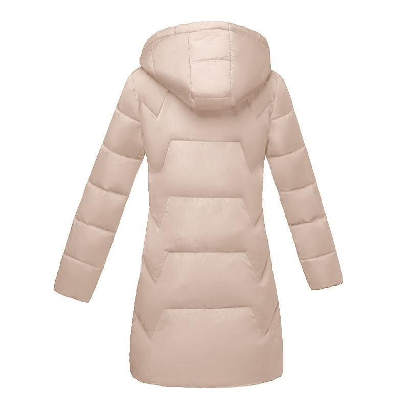 Autumn winter Jacket for women 2019 New fashion Khaki Winter Hooded Women's Down jacket Thicken Warm coat Female Parkas