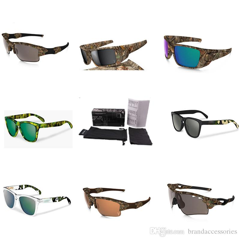 458fdcd8e0e4 Camouflage Coating Sunglasses Brand Fashion Tennis Glasses Military ...
