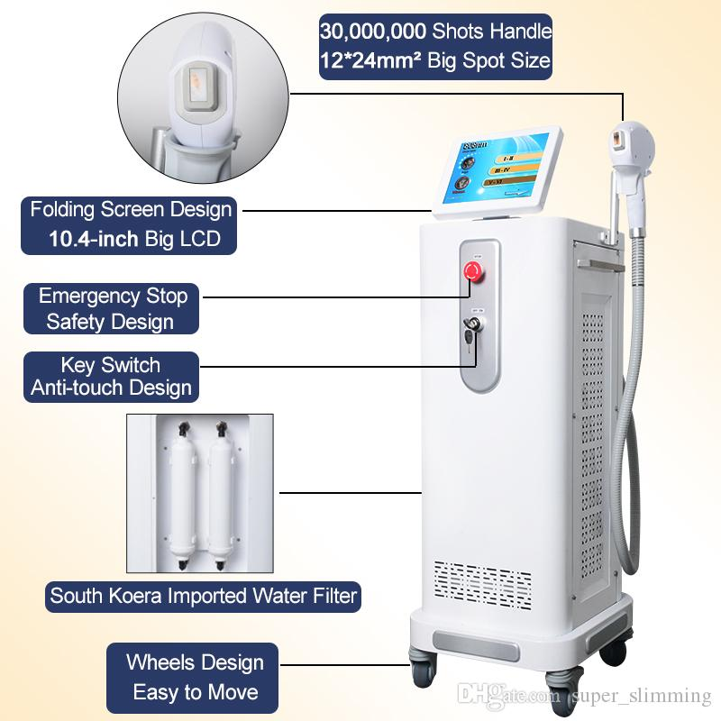 Newest professional diode laser 808nm hair removal machine laser permanent hair reduction beauty equipment FDA approved